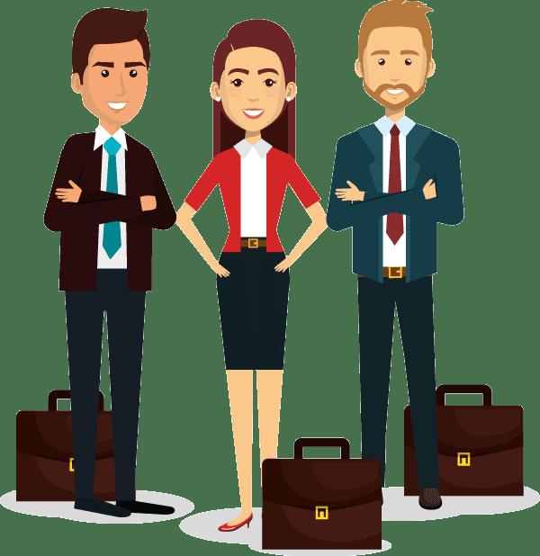 Jóvenes ejecutivos de éxito